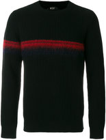 No.21 stripe detail knitted sweater