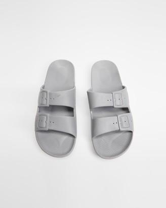 Freedom Moses Grey Sandals - Slides - Unisex - Size One Size, 34/35 at The Iconic