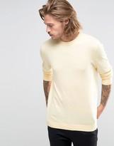 Asos Crew Neck Sweater in Lemon Cotton