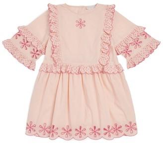 Stella McCartney Embroidered Ruffle Dress