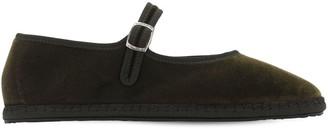 10mm Mary Jane Velvet Loafers