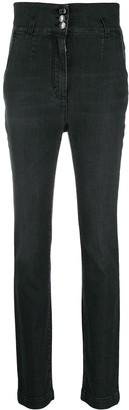 Dolce & Gabbana High Waisted Button Jeans