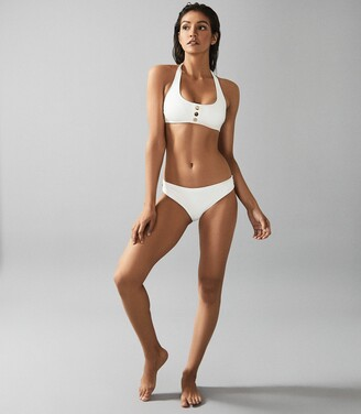 Reiss Bailey - Button Detail Bikini Briefs in White
