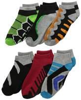 Jefferies Socks Tech Sport Low Cut 6-Pack Boys Shoes