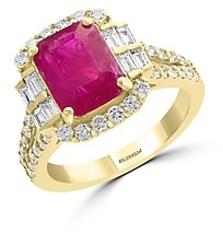 Bloomingdale's Ruby & Diamond Statement Ring in 18K Yellow Gold - 100% Exclusive