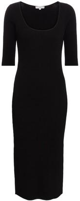 Vince Cotton-blend midi dress