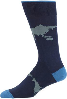 Neiman Marcus Men's Globe Crew Socks