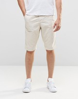 Pull&bear Chino Shorts In Ecru