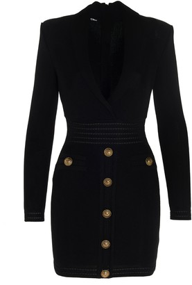 Balmain Knitted Tailored Dress