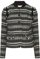 Tory Burch Norfolk Sequin-embellished Tweed Jacket - Black