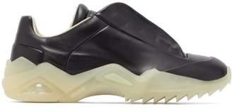 Maison Margiela New Future Leather Trainers - Mens - Black