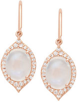 Jamie Wolf Aladdin Rainbow Moonstone & Diamond Drop Earrings in 18K Rose Gold