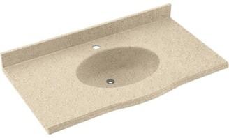 "Swan Europa Solid Surface 55"" Single Bathroom Vanity Top Top Finish: Bermuda Sand"