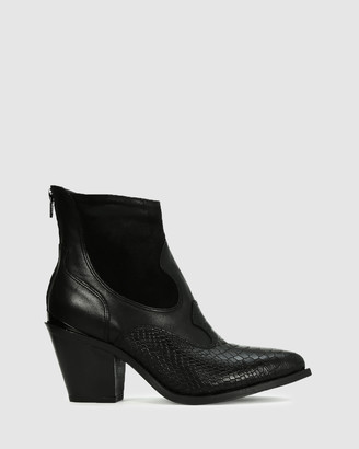 EOS Women's Black Heeled Boots - Carm - Size One Size, 38 at The Iconic