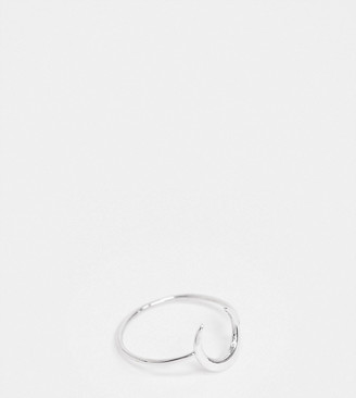 Kingsley Ryan ring with crescent moon in sterling silver