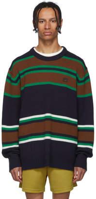 Acne Studios Navy Striped Nimah Sweater