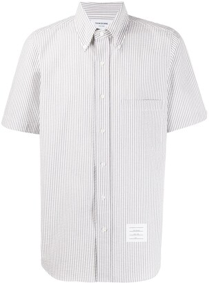 Thom Browne Short-Sleeve Seersucker Shirt