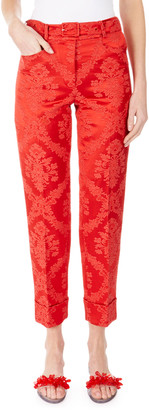 Simone Rocha Italian Jacquard Straight-Leg Pants