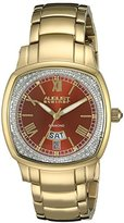 August Steiner Women's AS8193YGBR Yellow Gold Swiss Quartz Watch with Brown Dial and Yellow Gold Bracelet