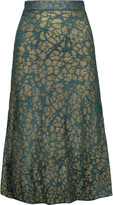 M Missoni Metallic crochet-knit midi skirt