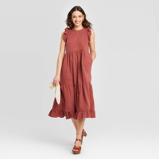 Universal Thread Women's Seeveess Tiered Ruffe Dress - Universa ThreadTM