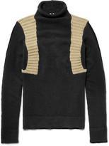 Rick Owens - Panelled Wool-blend Mock Neck Sweater