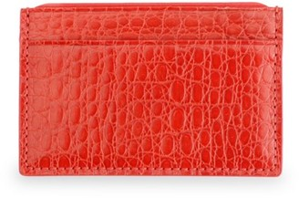 Royce New York Croc-Embossed Leather Card Case