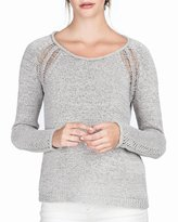 Lilla P Tape Yarn Open Stitch Sweater, Dune