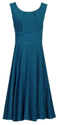 Dorothy Perkins Womens *Jolie Moi Petrol Blue Belted Fit And Flare Dress, Blue