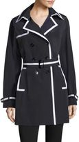 Jane Post Downtown Grosgrain Trim Trench Coat