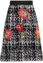 Dolce & Gabbana Appliquéd Wool-Blend Bouclé Skirt