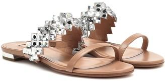 Aquazzura Talisman embellished leather sandals