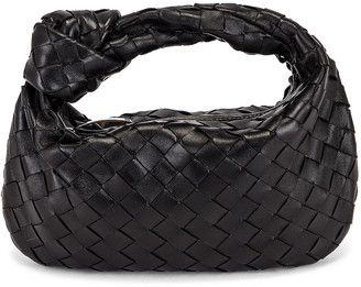 Bottega Veneta Mini Jodie Bag in Black & Silver | FWRD