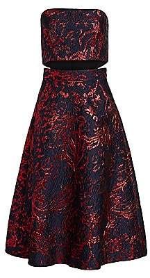Rachel Comey Women's Cotenna Jacquard Strapless Flare Dress