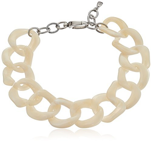 """Yochi Ivory Super Light Chunky Lucite Necklace, 20"""""""