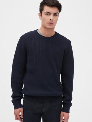 Gap Waffle Stitch Crewneck Sweater