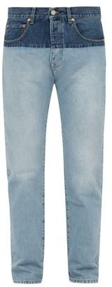 Vetements Two-tone Straight-leg Jeans - Mens - Light Blue