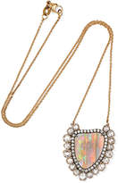 Kimberly McDonald - 18-karat Rose Gold, Opal And Diamond Necklace
