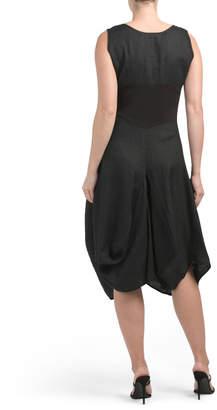 Drape Skirt Linen Dress