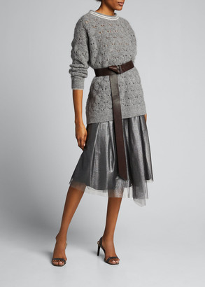 Brunello Cucinelli Mohair Lace Sweater