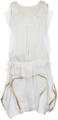 Tsumori Chisato White Silk Dress for Women