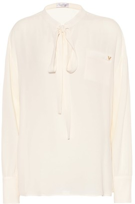 Valentino Silk-georgette shirt