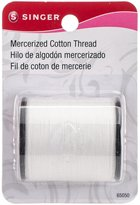Singer Size 50 Mercerized Cotton Thread, 175 Yards, White