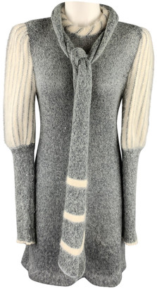 Carven Grey Wool Dresses