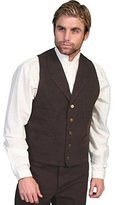 Scully Old West Vest Mens Lined Button Cotton Canvas M RW041
