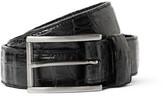 Santiago Gonzalez 3cm Black Crocodile Belt