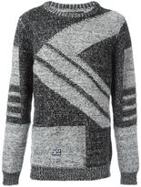 Kokon To Zai diagonal knit jumper - unisex - Wool - M
