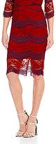 Lucy Paris Lace Combo Pencil Skirt
