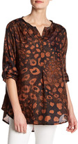 Casual Studio Animal Printed Silk Blouse
