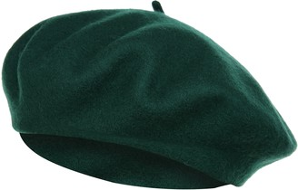 Vglooko VGLOOK French Style Classic Solid Color Wool Berets Beanies Cap Hats (Coffee)(Size: One Size)